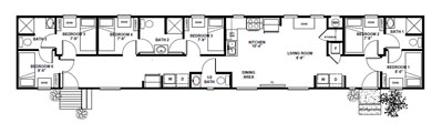 1039 sq. ft. bunkhouse